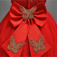 Bow Dream Flower Girls Dress Party Prom Princess Pageant Summer Spring Tutu Tulle Dress Vestidos Kids