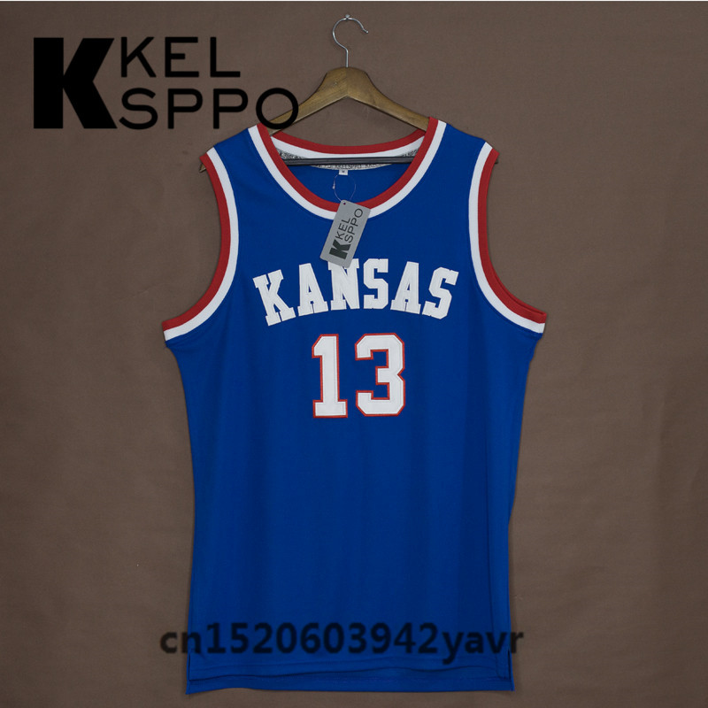 separation shoes 690fa 8e796 Custom Adult Throwback Basketball Jerseys #13 Wilt ...