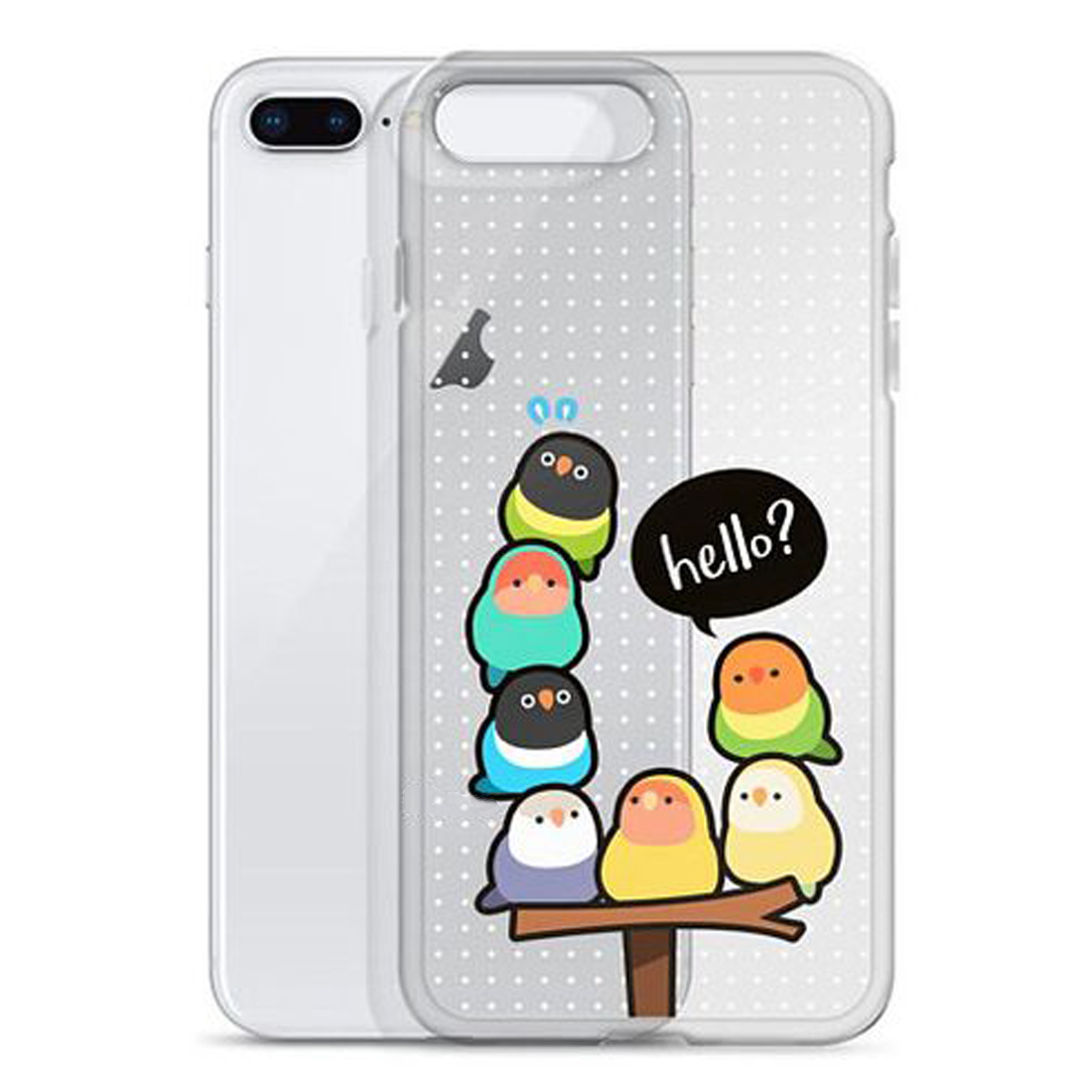 Chubby Cockatiels Bird Loafs Protective Cartoon soft Silicone clear Phone Case Cover For iPhone 6 6S 7 8 Plus 5S X XS XR XSMax in Half wrapped Cases from Cellphones Telecommunications