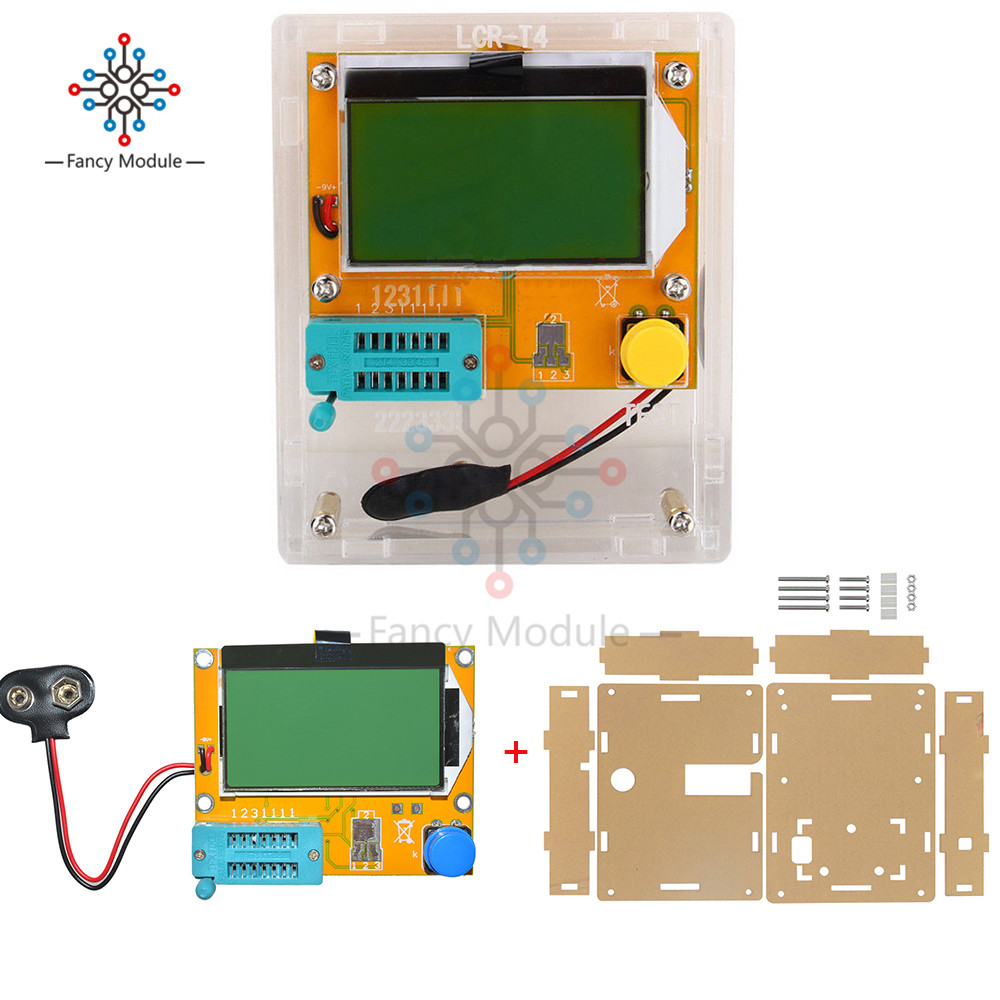 LCR-T4 Mega328 M328 Diode Triode Capacitance ESR Meter MOS PNP Transistor Tester LCD Display Transistors Diodes With Case Box odeon light 2910 3w odl16 139 хром прозрачное стекло декор хрусталь бра e14 3 40w alvada