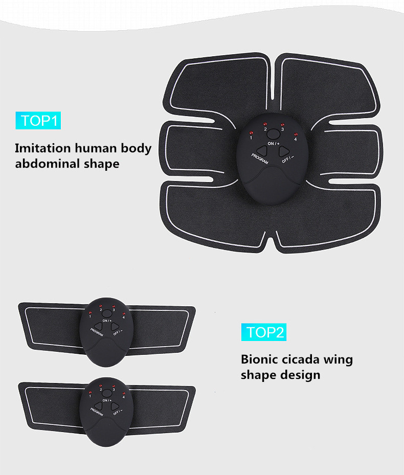 Купить с кэшбэком Drop Shipping Abdominal machine electric muscle stimulator ABS Trainer fitness Weight loss Body slimming Massage
