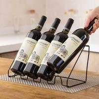 Железный Держатель для красного вина Европейский полка для виноградного вина бытовой держатель для винной бутылки с 4 стендами дисплея кре...
