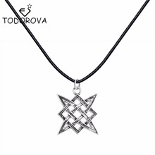 Todorova Kolovrat Slavic Pendant Russian Square Star Power Vintage Antique Slavic Necklace Pendants Ethnic Women