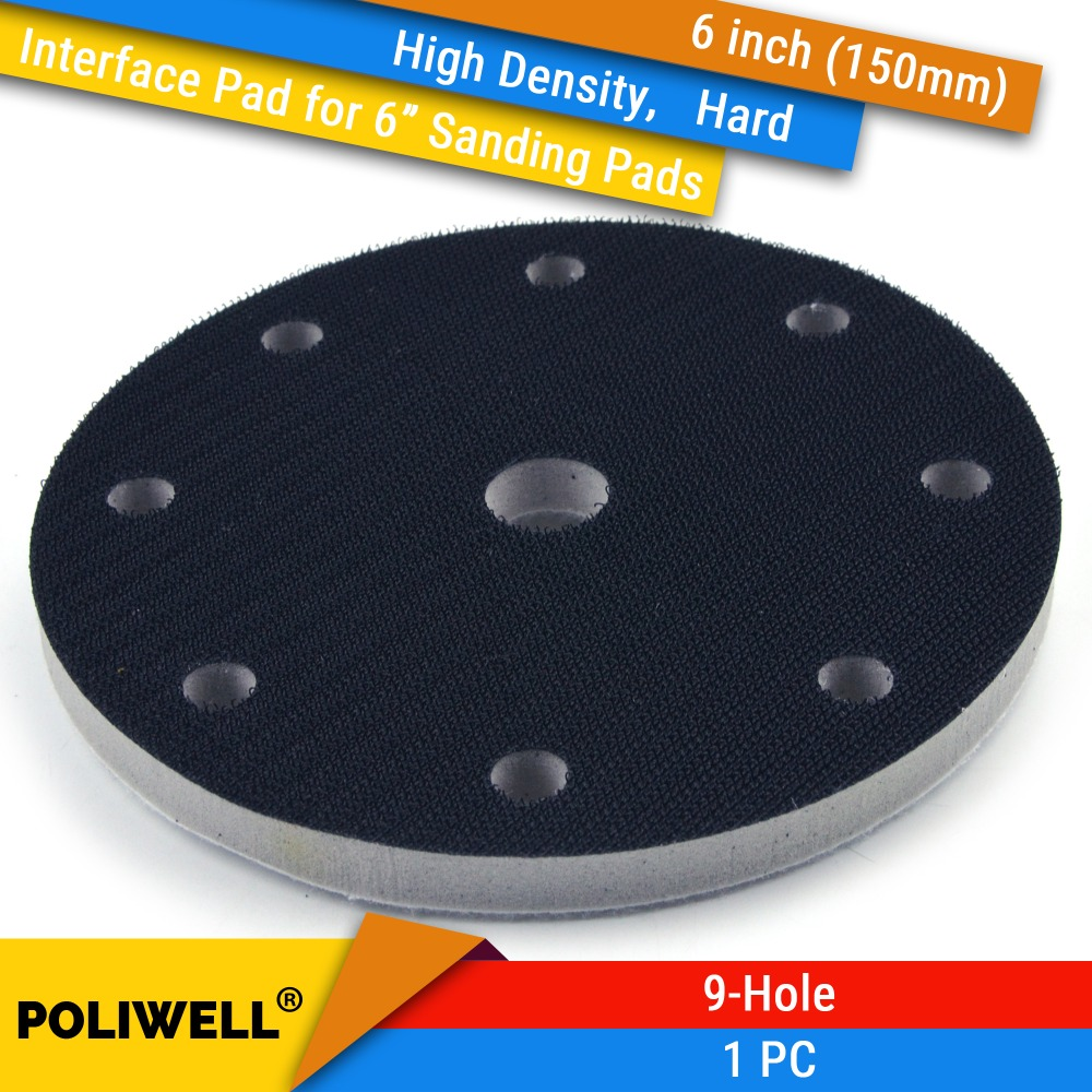 6 Inch(150mm) 9-Hole High Density Hard Sponge Surface Protection Interface Pads For 6
