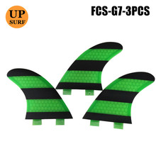 FCS Surf Fin G7/L Size Fins Good Quality Green/Blue/Orange Honeycomb Surfboard Free Shipping