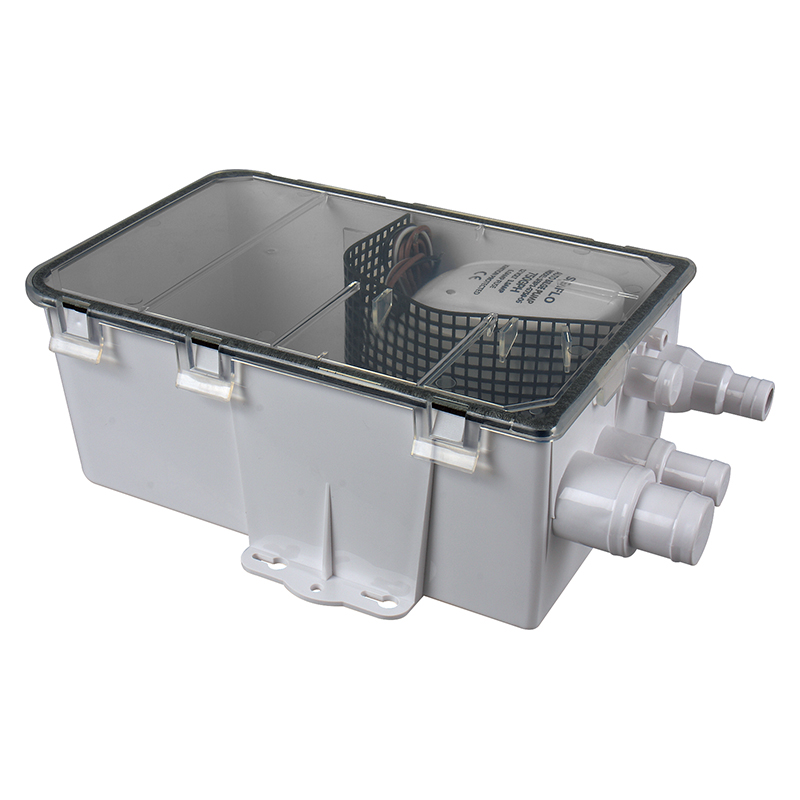 SEAFO 12V 750 GPH Boat Marine Shower Sump Pump Drain Kit System Multi-port Inlet RV Camper seaflo 24v 750gph marine shower drain pump sump box multi inlet compare to attwood rule