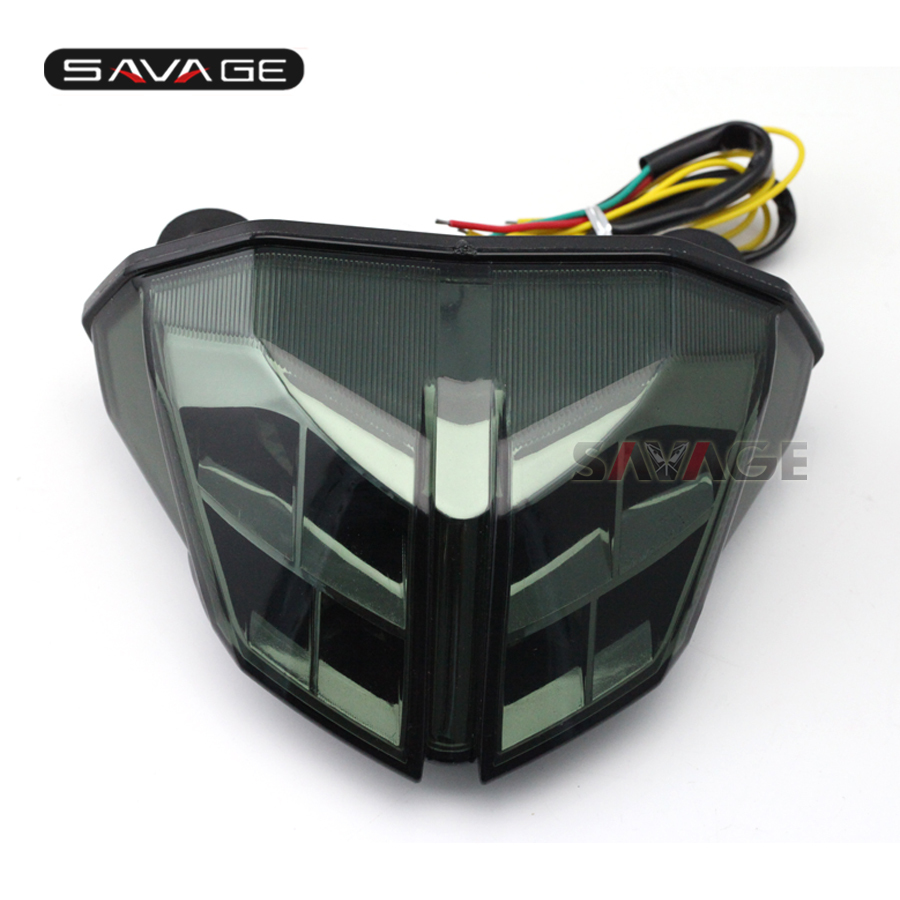 For DUCATI Streetfighter 848/1100 2012 2013 2014 Motorcycle Integrated LED Tail Light Turn signal Blinker Lamp Smoke