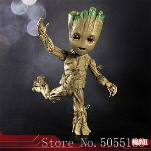 Горячие игрушки Marvel Groot, Стражи Галактики, Мстители, 1:1, милый ребенок, дерево, человек, шарниры, подвижная фигурка, игрушки, 26 см