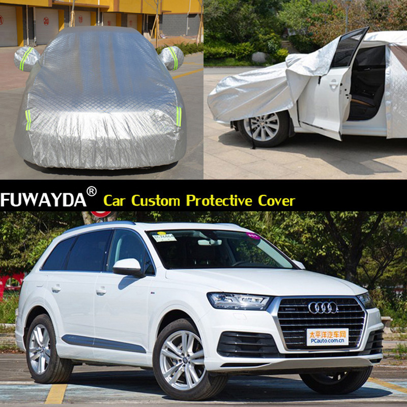 free shipping!!! Car Covers Anti UV Snow Rain Scratch Resistant Automatic Car Covers For Audi Q7