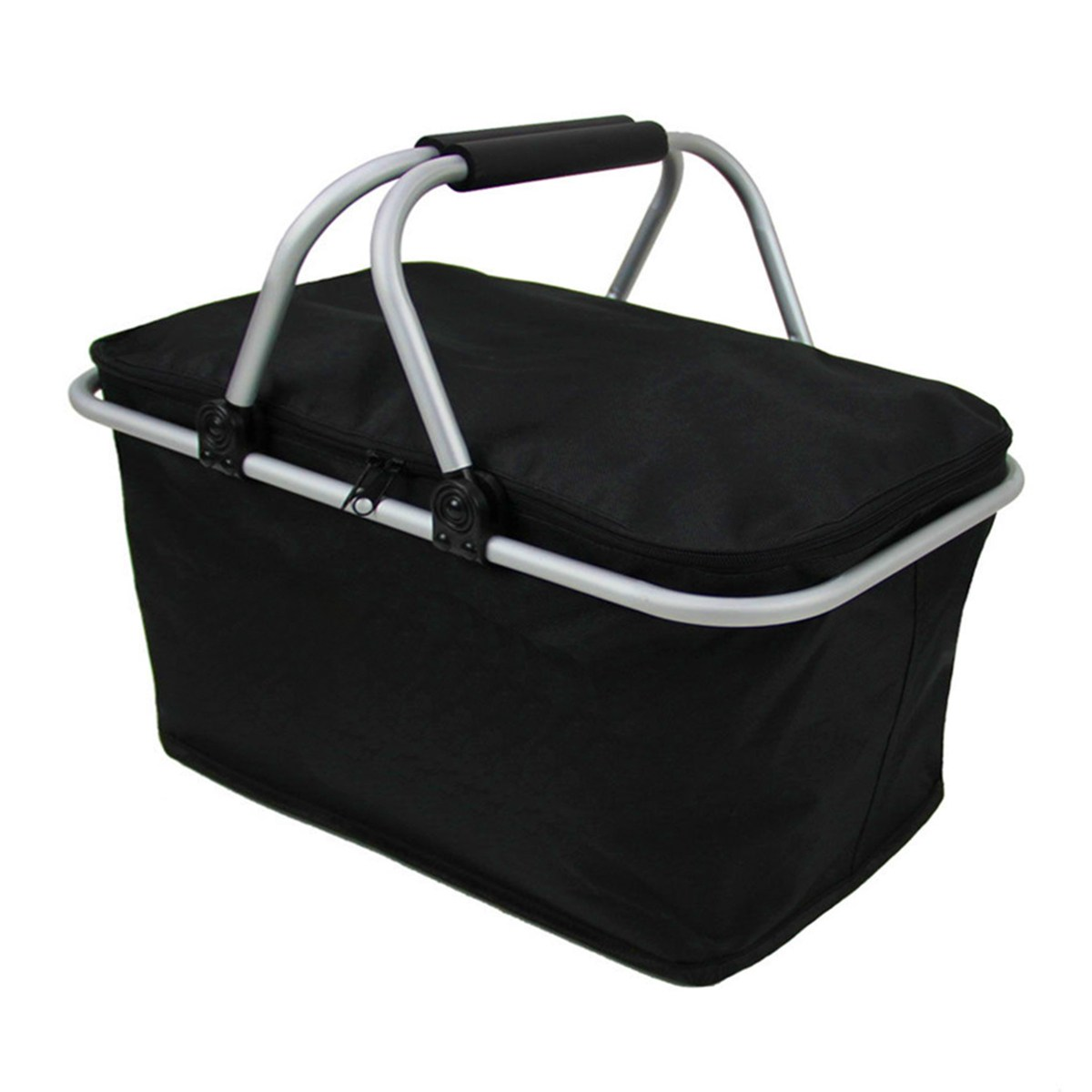 46cm x 28cm x 24cm Folding Picnic Camping Insulated Cooler Cool Hamper Storage Basket Bag Box outdoor picnic bags sucked hanging laundry hamper dirty clothes storage basket