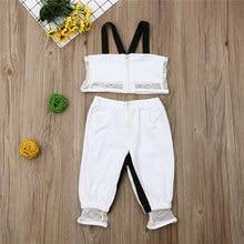 Vêtements en maille pour bébés filles, hauts à bretelles, t-shirt + pantalon de Sport, ensemble Bebek Giyim, 2019