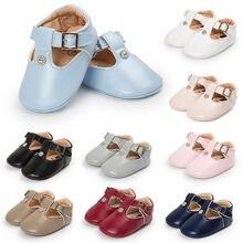 Ботинки для новорожденных девочек обувь принцессы из искусственной