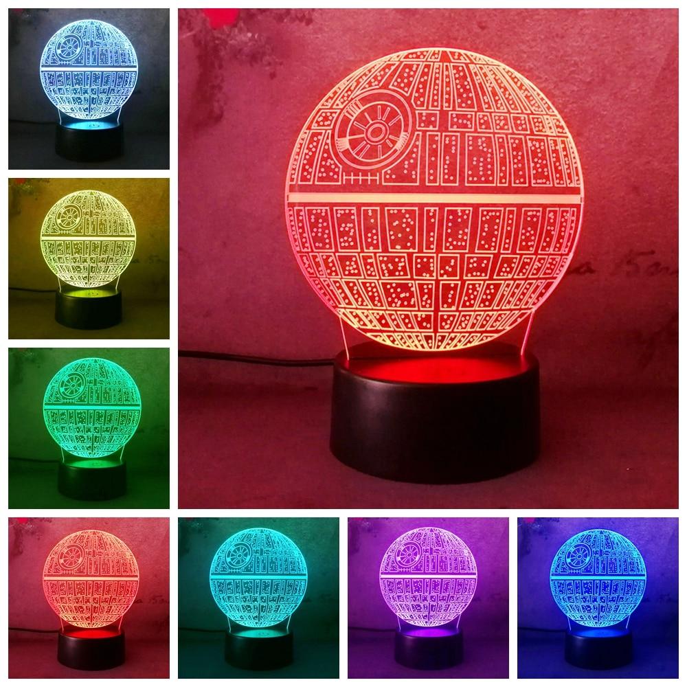 купить LED Light home Bulb Star Wars Death Star Table Lamp 3D Light Birthday Gifts Lamp Bedroom Lamp Cristmas Gifts kid Night light недорого