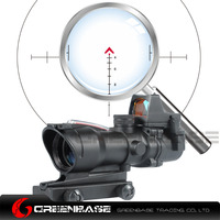 Greenbase ACOG 4X32 Chevron Reticle Fiber Optic Scope Riflescope Red Illuminated Sight Combo RMR Mirco Red