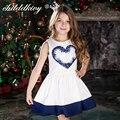 ChildDkivy 2-16Y Meninas Vestidos de Verão 2017 Vestido de Princesa Moda Bebê Menina Roupas Robe Fille Enfant Crianças Vestidos para Meninas