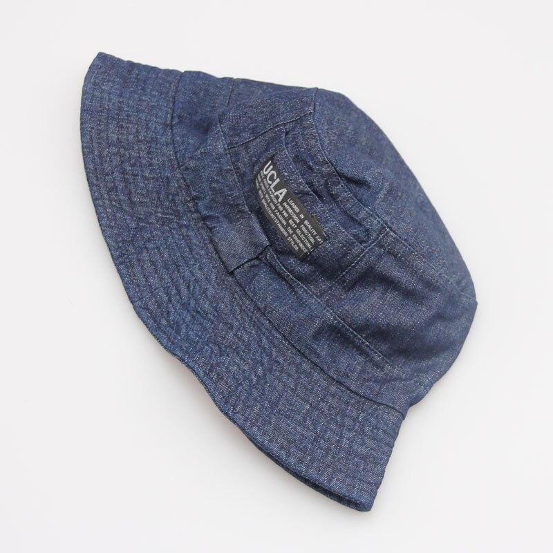 16 Fashion Cottonblend Denim Unisex Cap Bucket Hat Summer Outdoor Fishing Caps for Men and Women Flat Sun Berets HT51041+ 11
