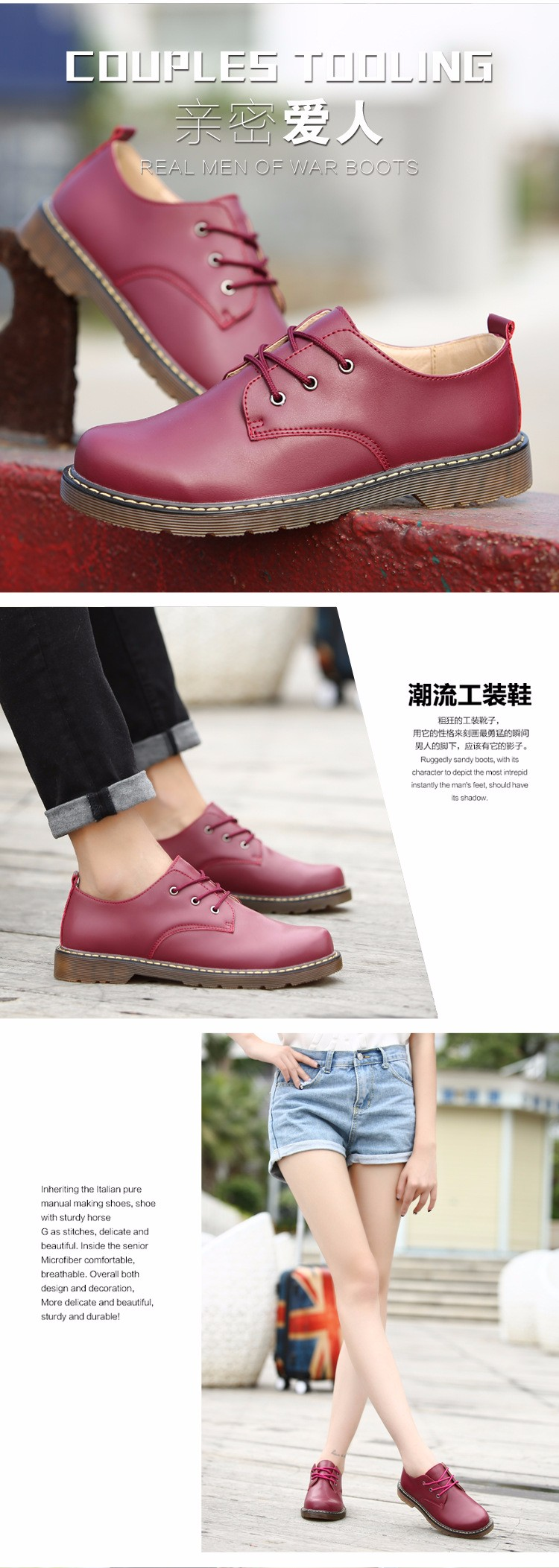 KUYUPP Fashion England Genuine Leather Shoes Women And Men Flats Oxfords Casual Lace Up Ladies Shoes Round Toe Men Loafers PX128 (16)