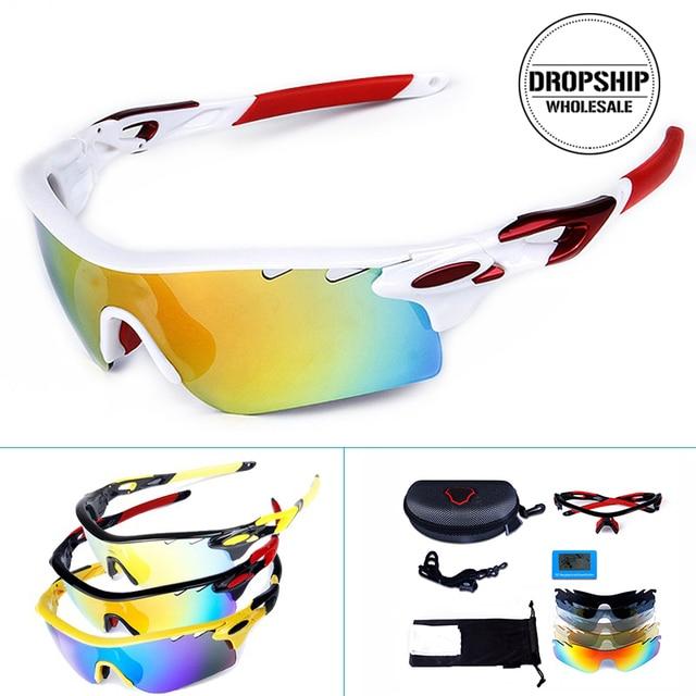 UV400 Polarized Ski Goggles COOL Sport Glasses for Motorcycle Snowboard Men Professional Eyewear Sunglasses Googles Case +4 Lens