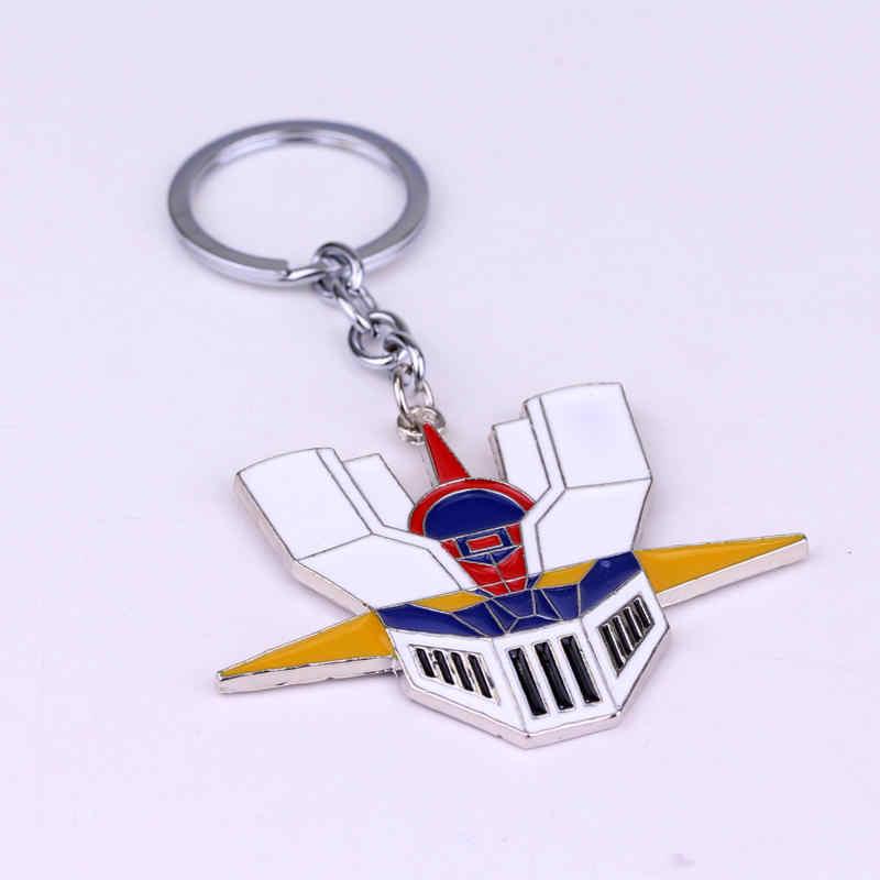 SG mode Animado bijoux Mazinger Z tête porte-clés Portrait multicolore masque métal porte-clés alliage chaînes pour hommes femmes cadeau