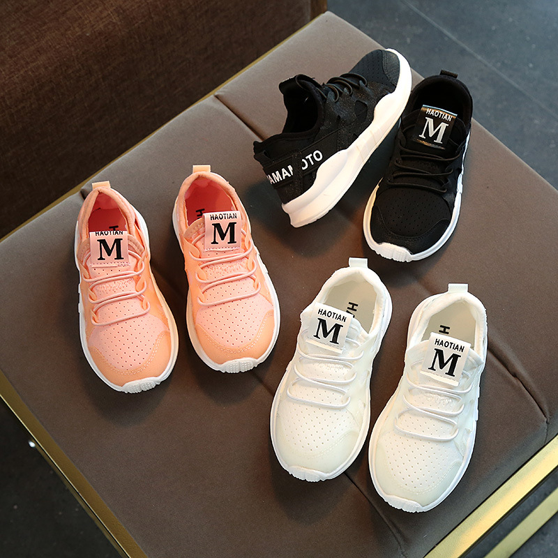 New Children Kids Casual Shoes Youth Boys Girls Mesh Breathable Shoes Slip on