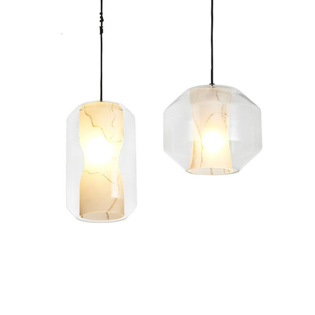 Post Modern Glass Lee Broom Chamber Pendant Light For Cafe Bar Restaurant  Dining Room Deco 1469