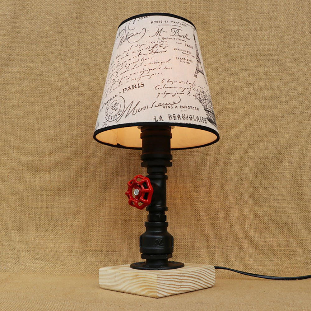 Vintage design retro black bedside steam punk fabric lampshade table lamp e27 / e26 lights for bedroom workroom workshop officeVintage design retro black bedside steam punk fabric lampshade table lamp e27 / e26 lights for bedroom workroom workshop office