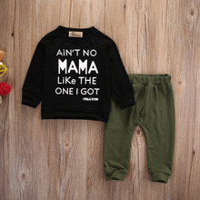 Baby Boy Autumn Winter Clothes Letter Long Sleeve