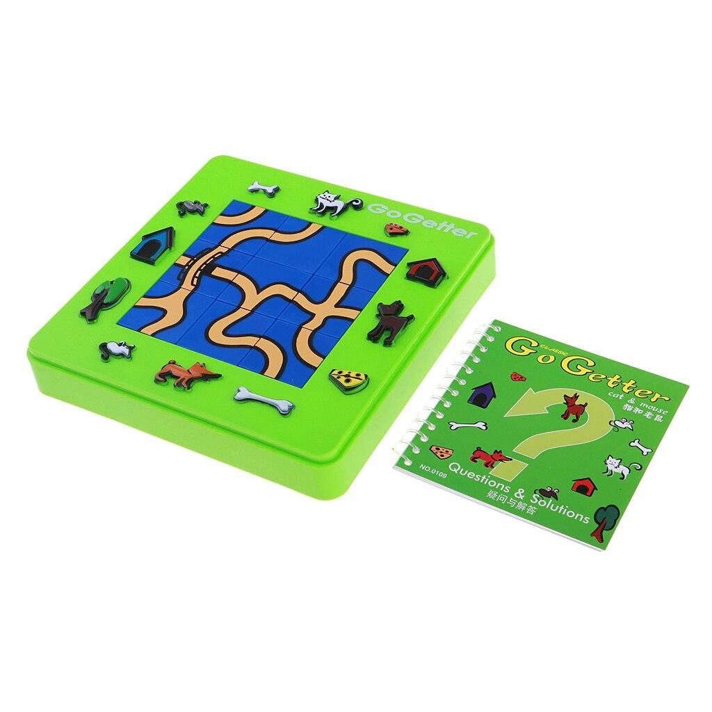 Plastique aller Getter chat et souris jeu de société dessin animé Puzzle labyrinthe Intelligence jeu de société pour enfants enfants cadeau d'anniversaire fournitures