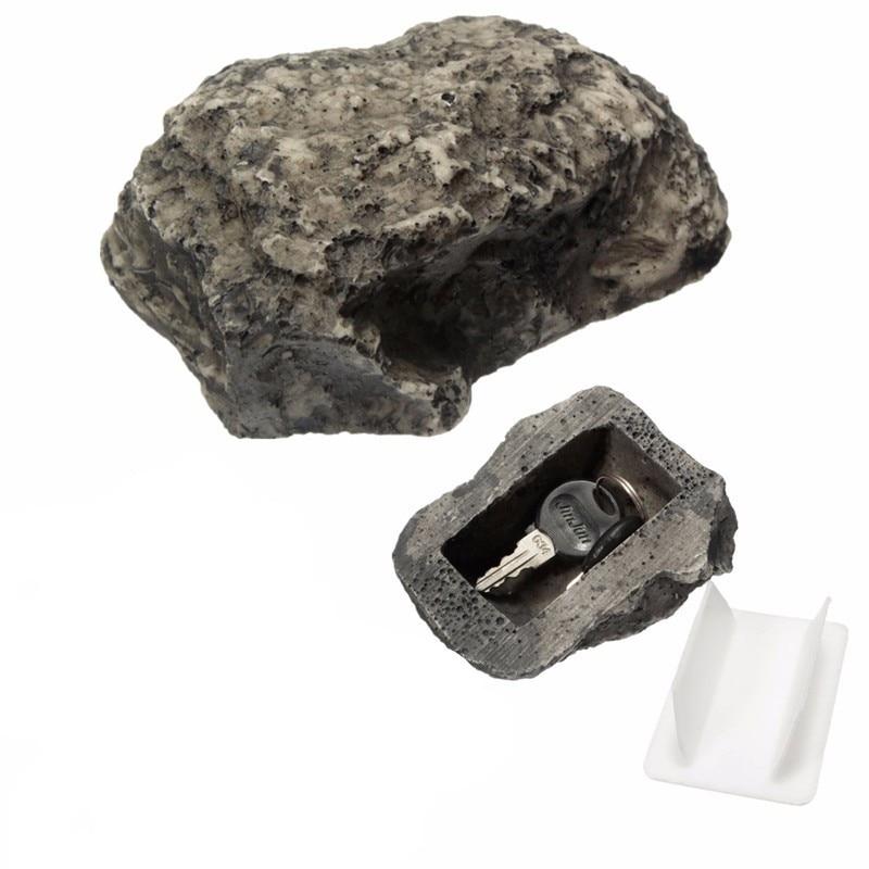 Key Storage Box Durable Quality Simulation Stone Hidden Money Private Key Anti-lost Insurance Mini Fake Stone Case