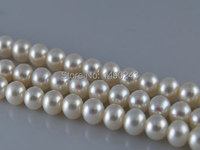 16 inches 10 11 mm AAA White Round Quality Freshwater Pearl Loose Strand for Necklace