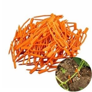 Image 1 - Clips pour plantes de jardin en plastique, outil de jardinage, Clips pour treillis, ficelle, serre, vignes à grouper, 50 pièces