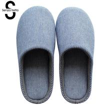 цены Senza Fretta New Men Slippers Indoor Lover Women Cotton Slippers Home Mute Lover Soft Bottom Floor Slippers Women/men Shoes