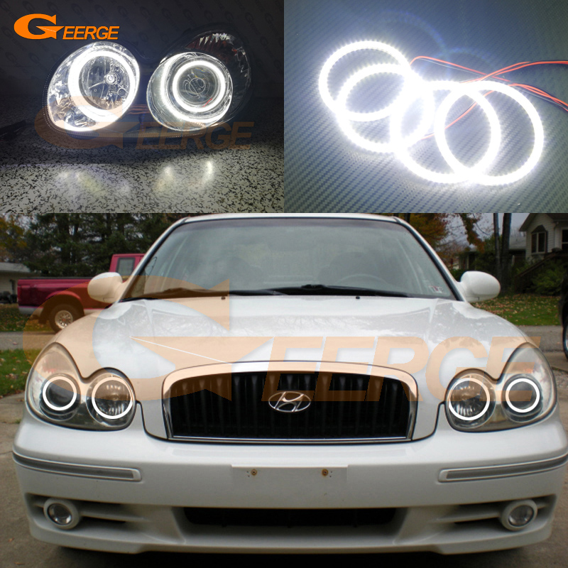 For Hyundai Sonata 2002 2003 2004 2005 headlight Excellent Ultra bright illumination smd led Angel Eyes Halo Ring kit for alfa romeo 147 2000 2001 2002 2003 2004 halogen headlight excellent ultra bright illumination ccfl angel eyes kit halo ring