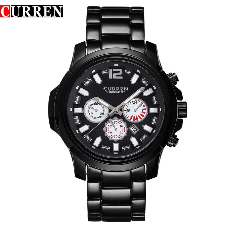 CURREN calendar male watch steel quartz watch waterproof watch Tide brand casual fashion male table 8059