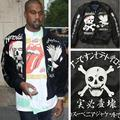 2016 winter Kanye West Jacket Mens Ma1 Bomber Jacket Yeezus Clothing Thicken Yokosuka Coats Eagle Skull Yeezy JacketS Streetwear