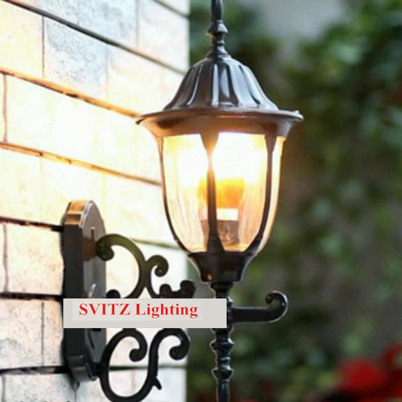 Free shipping vintage wall lamps Garden lighting terrace Wall Sconce outdoor wall lights Mediterranean bedroom wall lamp free shipping europe gold alloy led crystal sconce lamp indoor wall lamps with 1 lights 2 lights for bedroom lighting 962 1 2