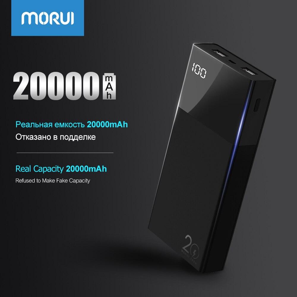MORUI Puissance Banque ML20 Pro 20000 mah Charge Rapide 3.0 Powerbank avec LED Affichage Numérique Intelligent Batterie Externe pour Mobile téléphones
