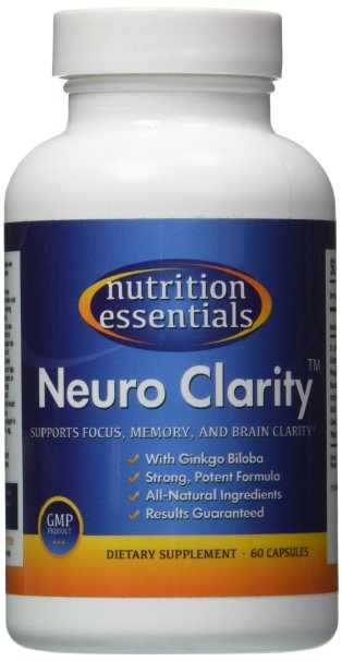 #1 Brain Function Booster Nootropic Super Ginkgo Biloba complex with St Johns Wort Bacopin Supports Mental clarity Focus Memory