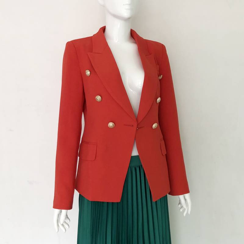 2018 Manteau Costume De À Jaqueta Mode Conception Rouge Longues Blazer Vêtements Red Formelle Revers Dames Travail Veste Outwear Manches Mince Bouton rrxYXp