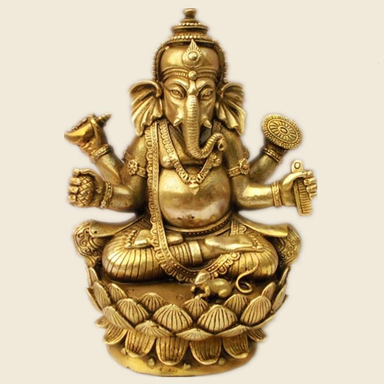 Tibetan Buddhism Tantra Ganesha Geneisha elephant headed God Statue buddha figure figurine God of victory