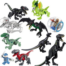 Single Sale Jurassic World 2 Park Dinosaurs Indoraptor Pterosauria Building Blocks Figures DIY Toys Compatible With Legoinglys(China)