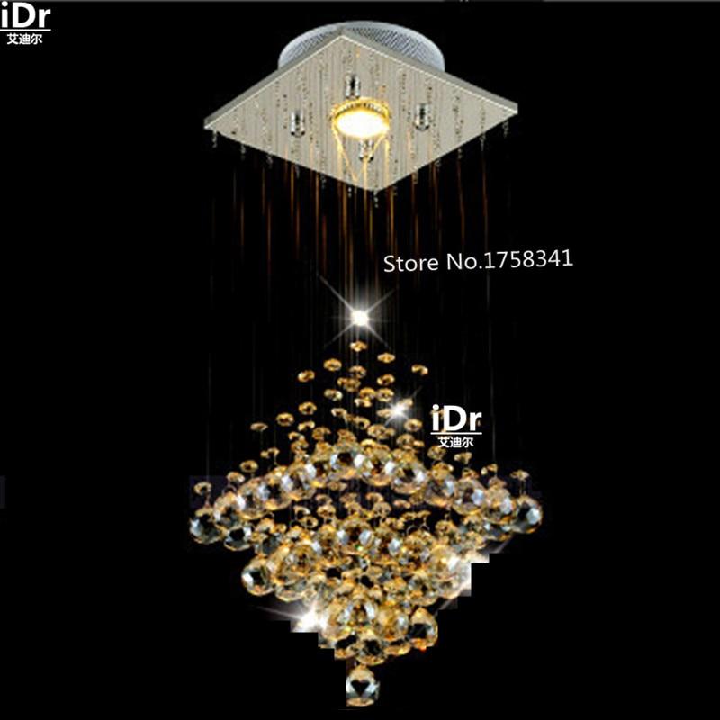 Modern crystal chandelier penthouse stair long hallway entrance foyer chandelier lighting bar balcony все цены