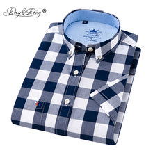 a41cde29bc2 DAVYDAISY 2018 High Quality Summer Hot Sale Short Sleeve Shirt Men Plaid  Casual Oxford Shirts 9 Colors Male Clothing 4XL DS-231