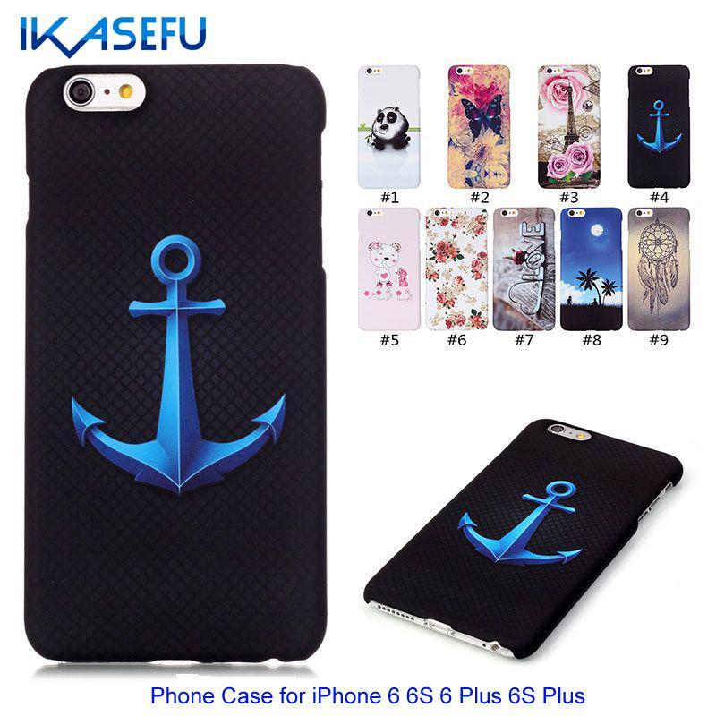 IKASEFU 2016 New Fashion Ultra Slim PC Case for iPhone 6 6S 6 Plus 6S Plus Hard Plastic Protective Phone Back Cover