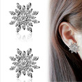 New!!! Ladies Crystal Snow Flake Bijoux Statement Stud Earrings For Women Earring Fashion Jewelry E053