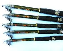 HENGJIA Telescopic Fishing Rod 2.1m 2.4m 2.7m 3.0m 3.6m Carp Fishing Rod FRP Ultra Light Fishing Stick Spinning Fishing Rod