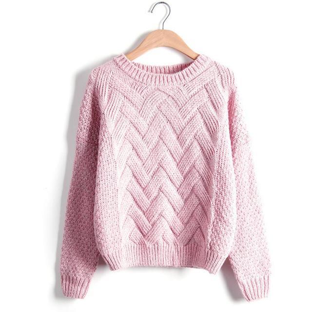 Suéter de punto Otoño Invierno diseñador de moda Twist chunky cable ...