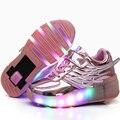 Novo 2017 rodas Jazzy Júnior Meninas Meninos Criança LEVOU Luz rolo de rodas de skate shoes para crianças crianças sneakers luminosas com roda