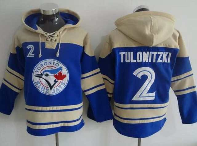 best website 2cb1e 53bdf Men Toronto Blue Jays Sweatshirt # 2 Troy Tulowitzki jersey ...