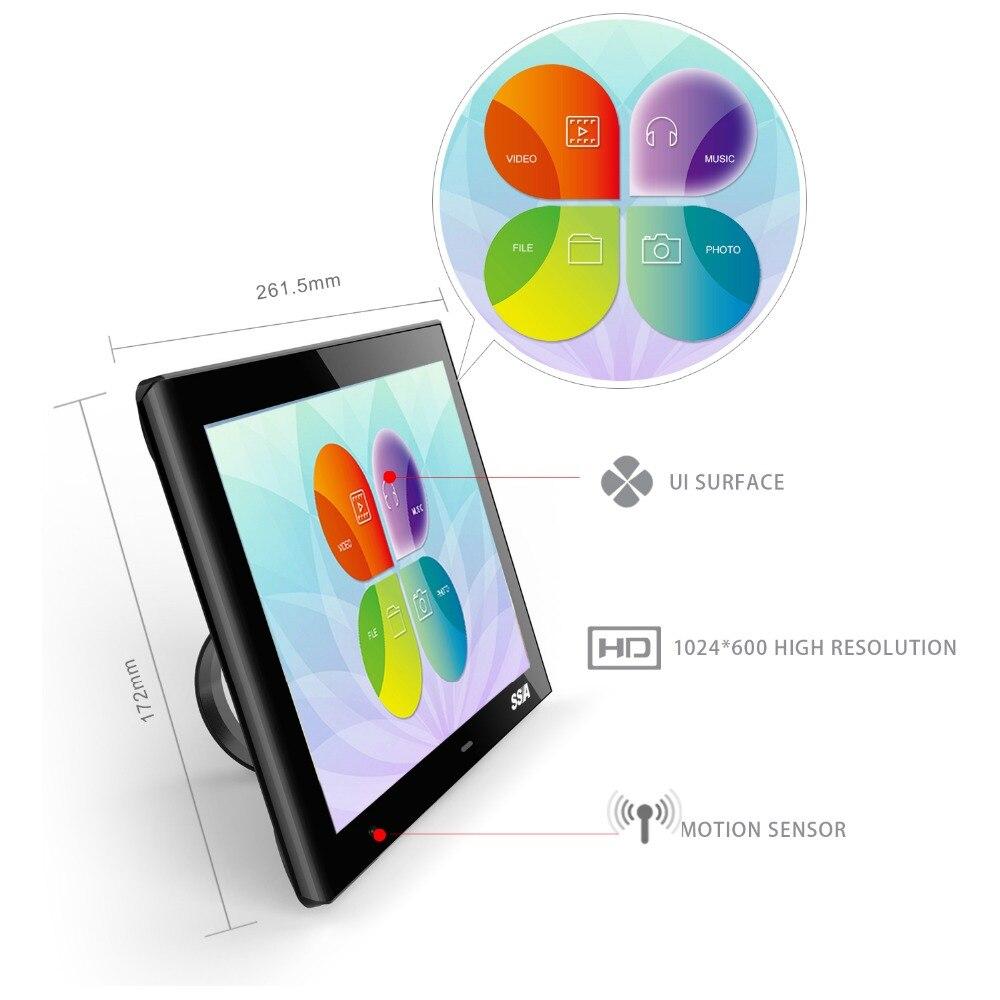 SSA 10.1 inch Body Motion Sensor Digital Picture frame Security 1024 ...